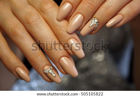Awesome Nails Beautiful Clean Manicure Nails Stock Photo (Royalty ...