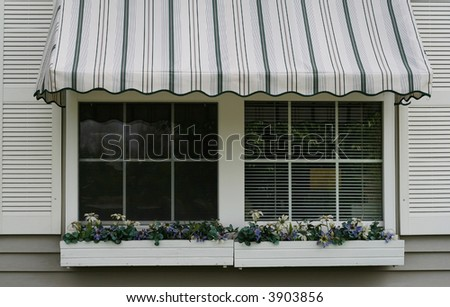 Awning - stock photo