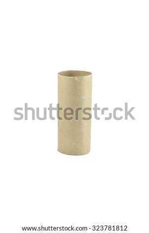 Axis Toilet Paper isolated on white background - stock photo