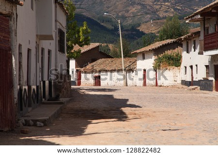 Ayacucho, Peru, View of the quinua little town - stock photo
