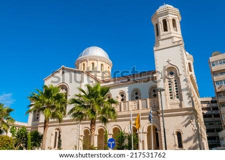 Ayia Napa Cathedral. Limassol. Cyprus - stock photo