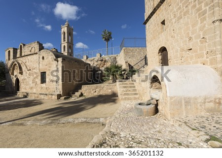 Ayia Napa Monastery, Cyprus. The cultural site most worth visiting in the town, the present building dates to around 1500.