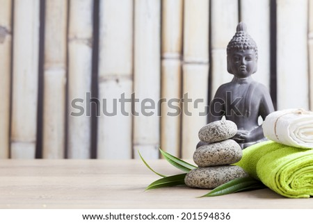 ayurveda symbols for relaxation and inner beauty  - stock photo