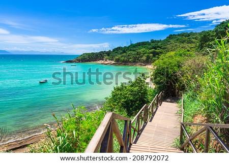 Azeda Beach in Buzios, Rio de Janeiro. Brazil - stock photo
