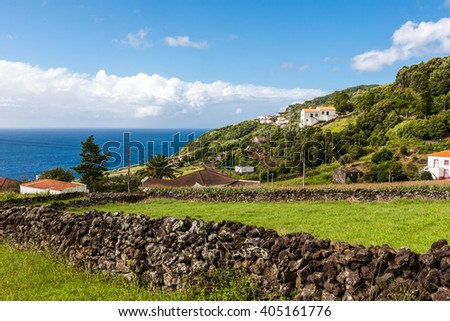 Azores, Pico island. - stock photo