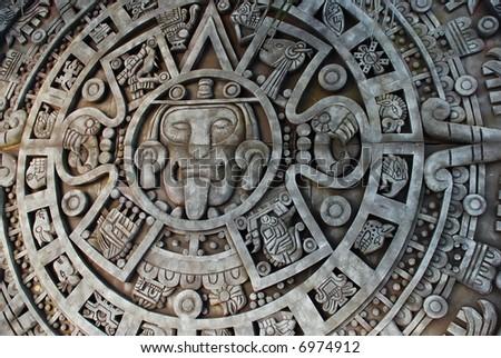 Aztec Calendar - stock photo