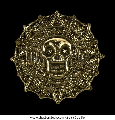 aztec pirate gold coin