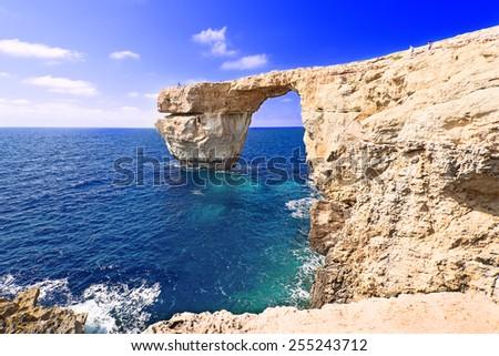 Azure Window on Gozo, Malta - stock photo