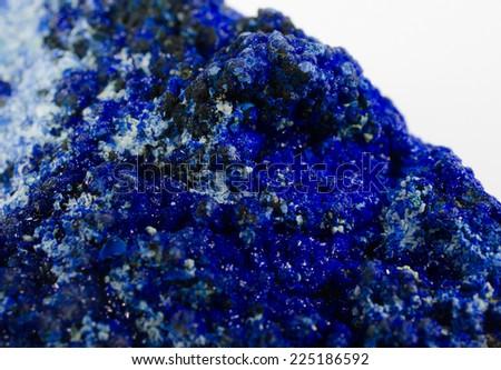 azurite macro - stock photo