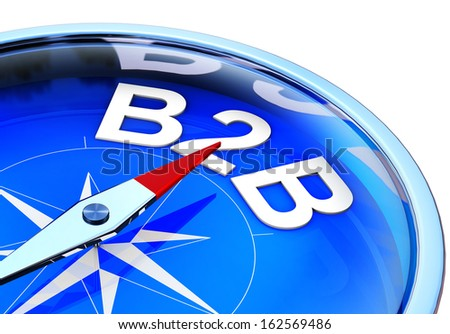 B2B compass - stock photo