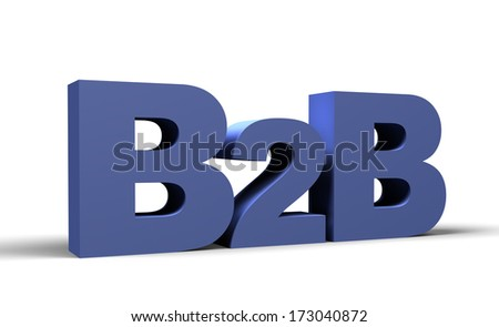 B2B 3d render, Business 2 business sign - stock photo