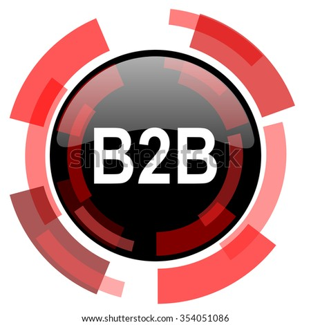 b2b red modern web icon