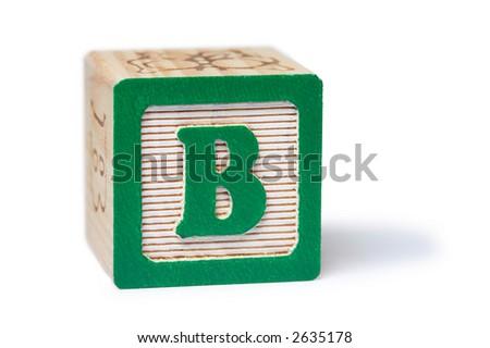 B Block - stock photo