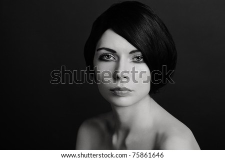 b/w Portrait of woman