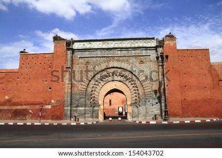 Bab Agnaou  in Marrakech, Morocco