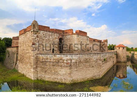 Baba Vida is a medieval fortress in Vidin in northwestern Bulgaria and the town's primary landmark.  - stock photo