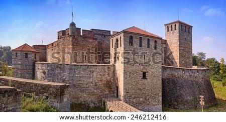 Baba Vida's towers in Vidin, Bulgaria  - stock photo