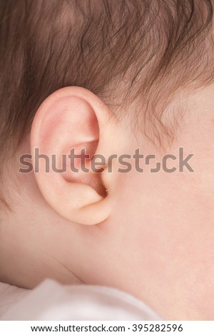 babies ear close up abstract - stock photo