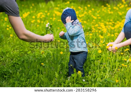 baby and dad  - stock photo