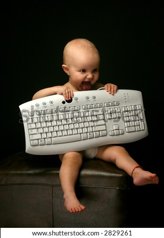 Baby and keyboard