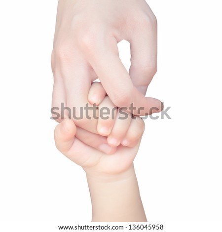 baby and mother's hand