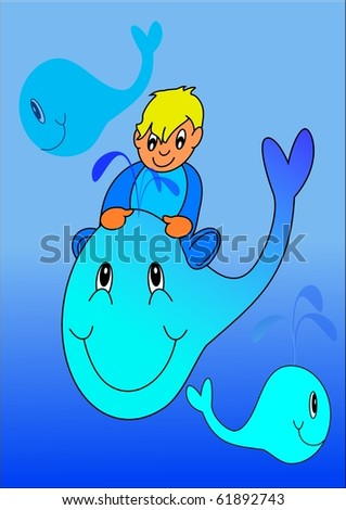 Baby and whale