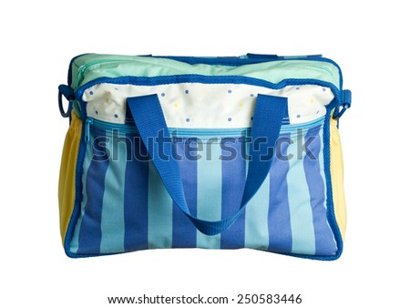 Baby bag isolated on white background - stock photo
