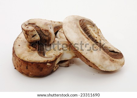 Baby bella mushrooms - stock photo