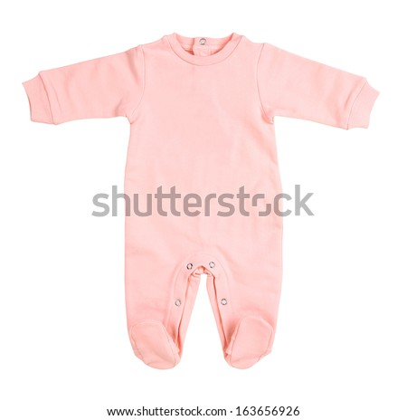 Baby bodysuit isolated on white background