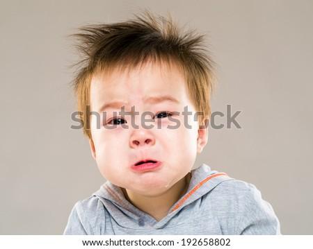 Baby bor crying - stock photo