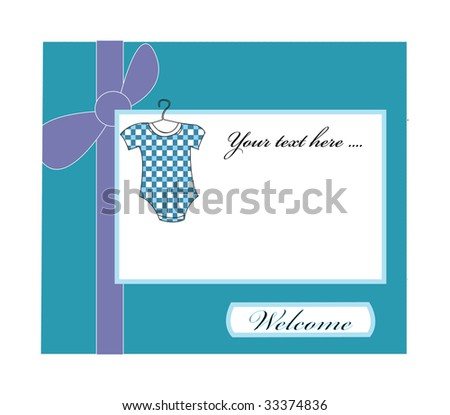 Baby boy arrival - stock photo