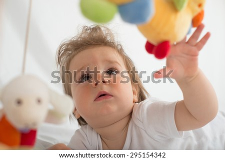 baby boy portrait - stock photo