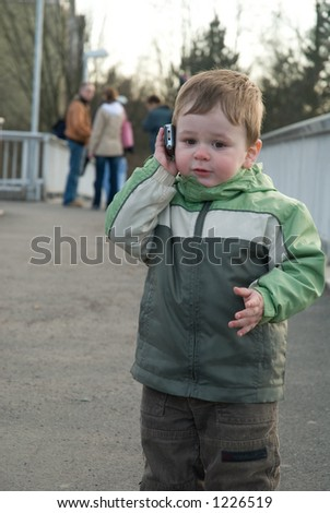 baby boy with cell phone