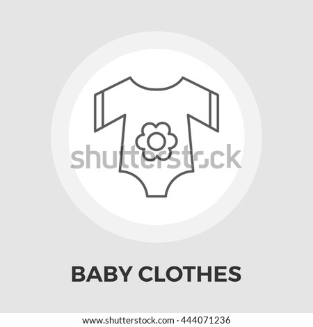 Baby Clothes Icon. Isolated on the white background.  - stock photo