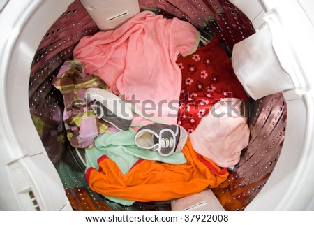 Baby clothing in a washing machine