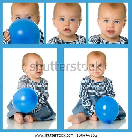 Baby collage - stock photo