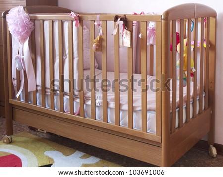 Baby cradle - stock photo