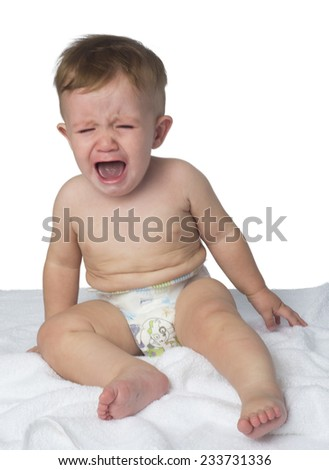 baby crying  - stock photo