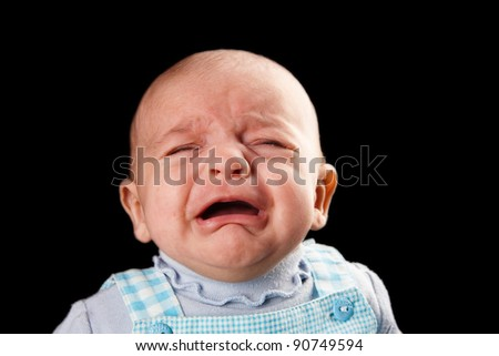 baby crying two month - stock photo