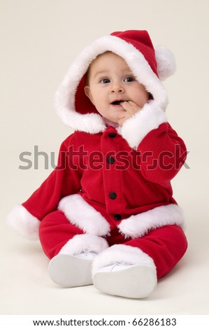 Baby Dressed up for First Christmas.