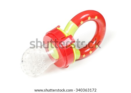 Baby feeding pacifier isolated on the white background