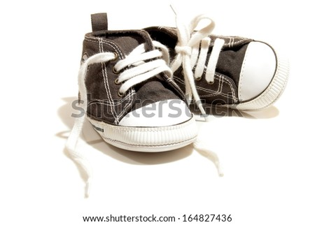 Baby First Shoes - stock photo