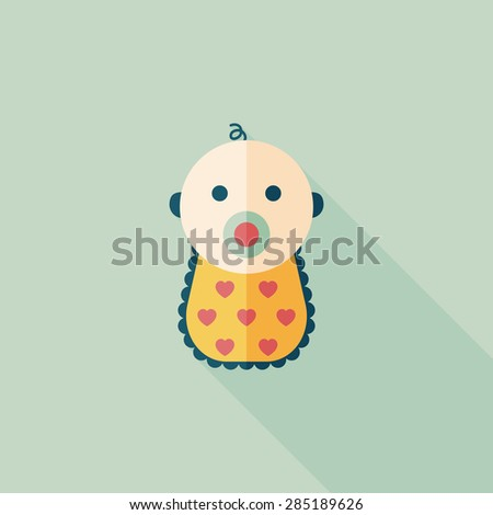 baby flat icon with long shadow - stock photo