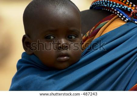 Baby From The Samburu Tribe - stock photo