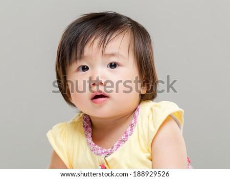 Baby girl - stock photo