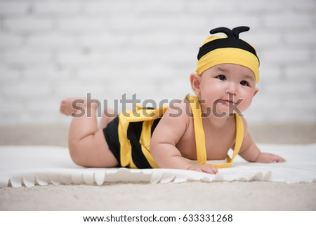 Baby Girl in a Bee Costume  sc 1 st  Shutterstock & Baby Girl Bee Costume Stock Photo (Edit Now)- Shutterstock