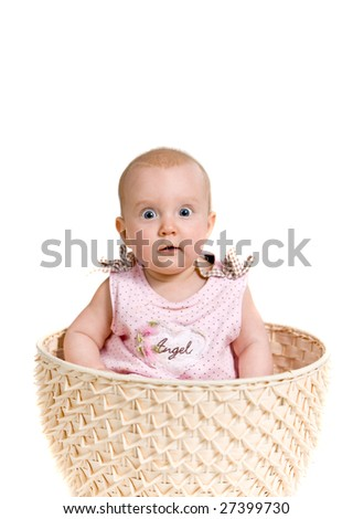 Baby girl in the basket