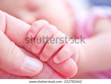 baby hand - stock photo