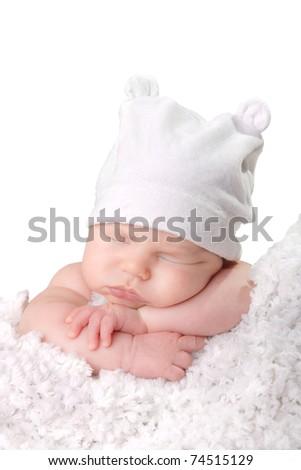 Baby hat - stock photo