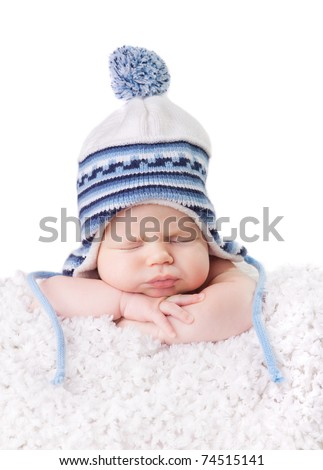 Baby hat - stock photo
